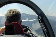 Segelfliegen über den Alpen