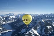 Alpenpanorama Ballonfahrt im Winter