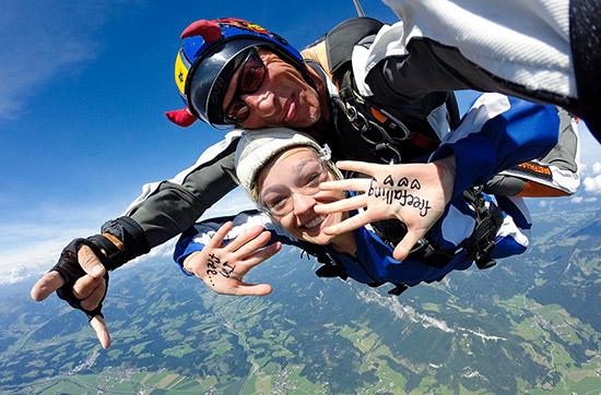 Fallschirm Tandem in Österreich